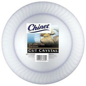 Stock photo  sc 1 st  eBay & Chinet Cut Crystal Dinner Plates 10 Inch 100 Count | eBay