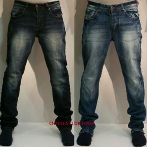 Men-039-s-Straight-Cut-Armani-Chelsea-Club-Light-Dark-Blue-Jeans-Size-30-36