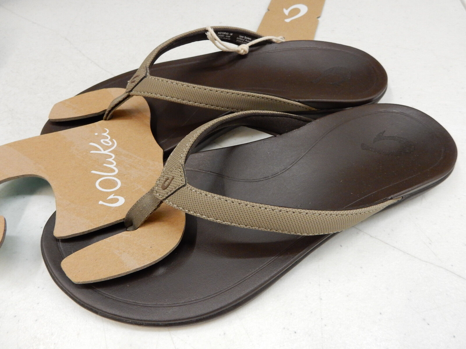 OLUKAI Damenschuhe SANDALS HO'OPIO CLAY DARK JAVA SIZE 10