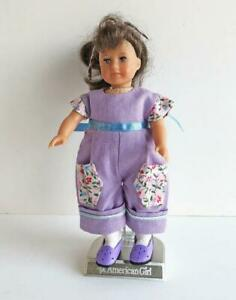 Clothes-for-6-034-Mini-American-Girl-Doll-w-Cloth-Body-Short-Romper-Lilac-Flowers