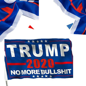 3x5 Ft No More BS Trump Flag No More Bullshit Keep America Great 2020 Flag