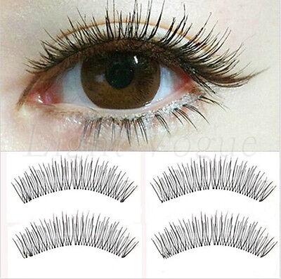10 Pairs Makeup Handmade Natural Cross Long False Eyelashes Eye Lashes 09e