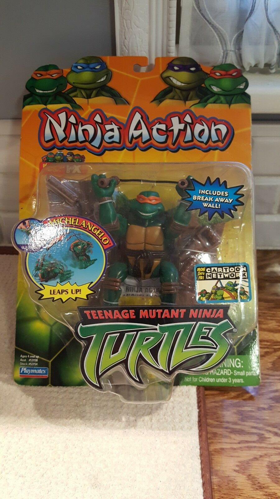 Michelangelo Ninja Action Leaps up Teenage Mutant Ninja Turtles 2004 Playmates