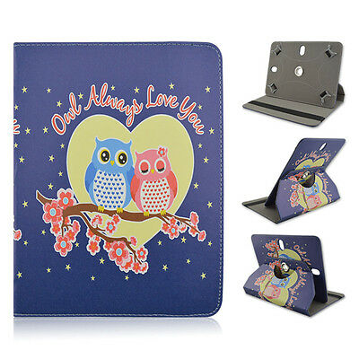 """Lenovo A8 8"""" inch Tablet 2 OWLS Heart Love Adjustable Case Cover"""