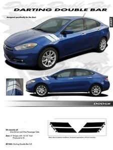 FOR-DODGE-DART-DOUBLE-BAR-Graphics-Kit-Decals-Emblems-Trim-2013-2015
