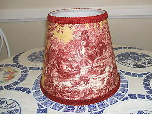 Last1s red gold petite ferme rooster french country toile lamp image is loading last1 039 s red gold petite ferme rooster aloadofball Choice Image