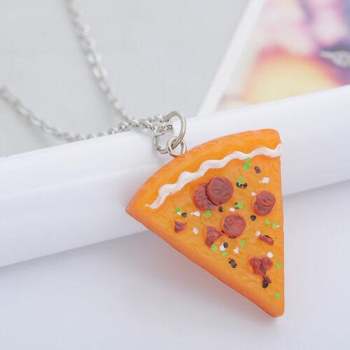 Valentine/'s Day Necklace Pizza Slice Pendants Friendship Best Friends familyGift