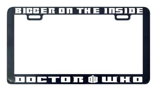 who license plate frame Bigger on the inside doctor dr