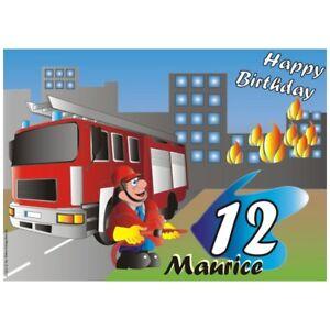 Eckige Tortenauflage f Feuerwehr-Geburtstag Überraschungstorte//Birthday Kuchen
