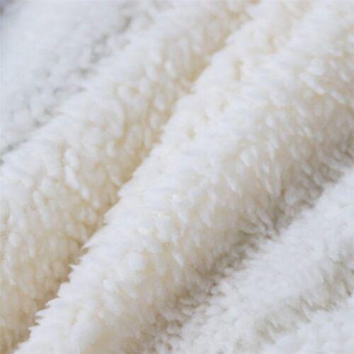 Cartoon Large Faux Fur Throw Sofa Bed Soft Warm Fleece Blanket Single Double