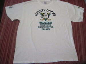 Mighty-Ducks-2003-Western-Conference-Finals-Men-039-s-Cotton-T-Shirt-XL-NEVER-WORN