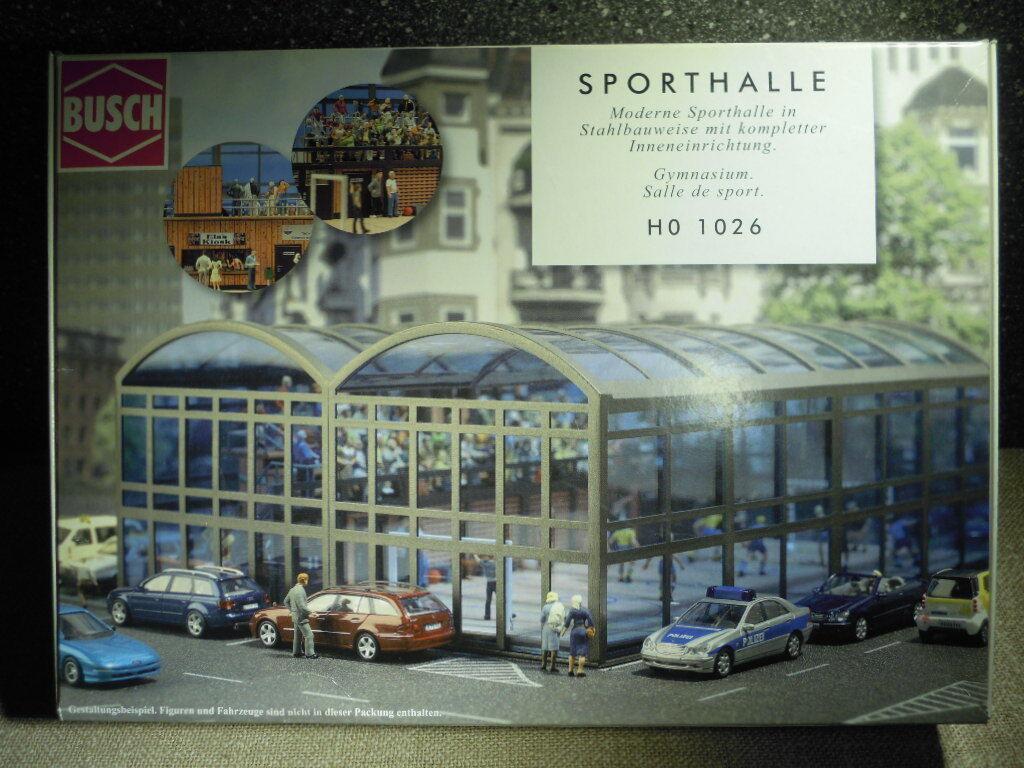 Busch 1026  Sporthalle mit mit mit kompletter Inneneinrichtung, Bausatz H0 - ungeöffnet  | Deutschland Shops  283267