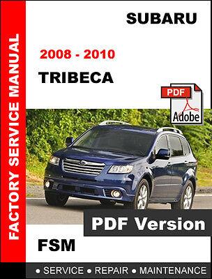 SUBARU TRIBECA 2008 2009 2010 FACTORY SERVICE REPAIR FSM ...