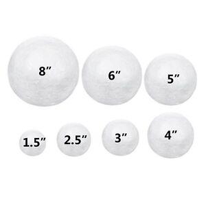 Details about 6pc Foam Polystyrene Balls Round Smooth Sphere Non-Styrofoam  Craft Science Ball