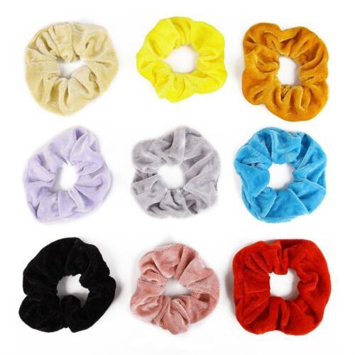 20Pcs Lot Girls Hair Scrunchies Velvet Elastic Hair Bands Scrunchy Hair Ties gh