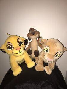 Disney-Lion-King-SIMBA-NALA-amp-TIMON-paquete-Plushies-Envio-Gratuito