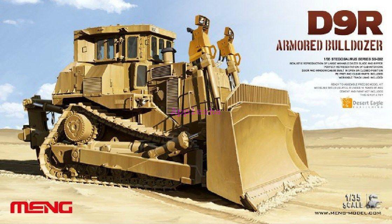 Meng Model 1 35 SS-002 Isreali D9R Doobi Armored bulldozer Model Kit