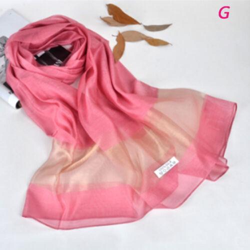 Fashion 1 Pc 200*70cm Organza Silk Scarf Women Beach Shawls Long Scarves