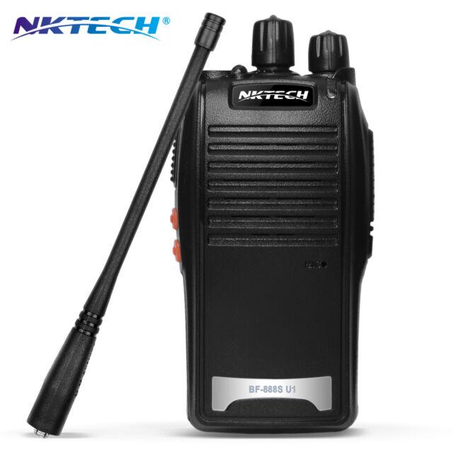 NKTECH NK-U2 2//5W Boot LED Digital Luminescence Scrambling UHF Walkie Talkie Mic