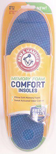 1 Pair Arm /& Hammer Memory Foam Comfort Insole Men Size 8-13 Women Sizes 6-10