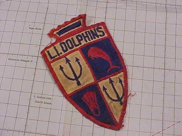 ORIGINAL VINTAGE LONG ISLAND NY LI DOLPHINS SCUBA   SKIN DIVING CLUB PATCH