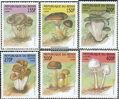 Obliging Benin 1003-1008 Mint Never Hinged Mnh 1998 Mushrooms Customers First Benin