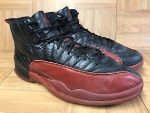 new arrival e8705 1e2b3 Details about VNTG🔥 Nike Air Jordan 12 XII Flu Game 2003 Donors Sz 10  136001-063 Black Red LE
