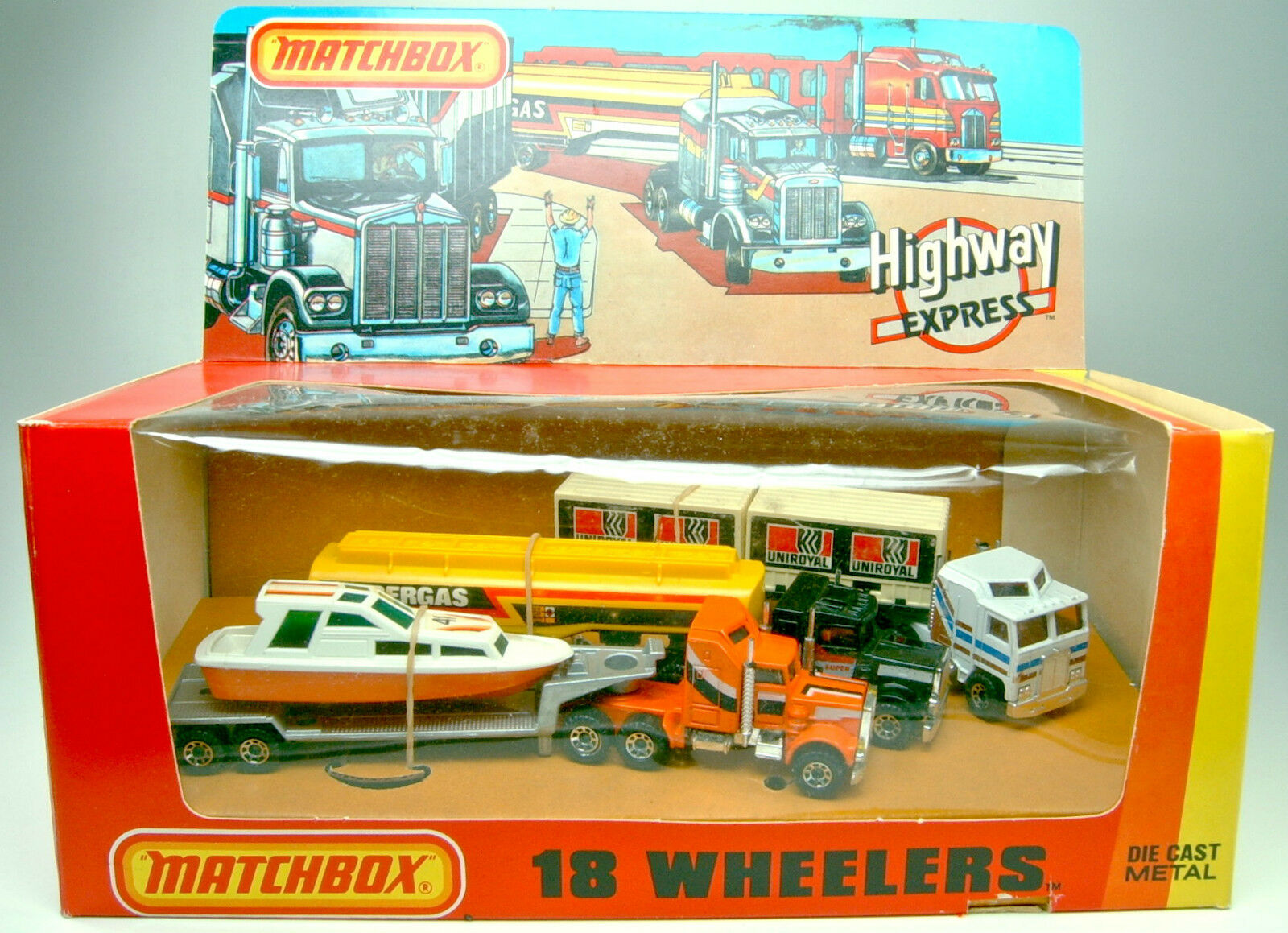 MATCHBOX convoi Giftset  18 les wheeler  usa 1982 dioramabox
