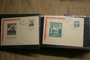 92-Ersttagsbriefe-Briefmarken-aus-Osterreich-1959-bis-1967-neuwertig