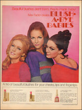 1969 Vintage ad for Max Factor`Blush`60's Fashion, Pretty Models (051514)
