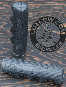 Black-Sparkle-Vintage-Schwinn-Stingray-Type-Bike-Grips-Lowrider-Bicycle-Cruiser