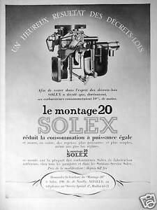 carburateur solex montage 20