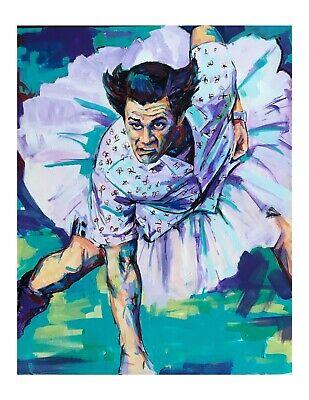 Anthony Bourdain paper print 18x12 Original art made by Xilberto