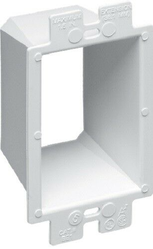 ARLINGTON BE1 1-Gang Box Extender Mounting Screws NOT Included Up to 1-1//2/""