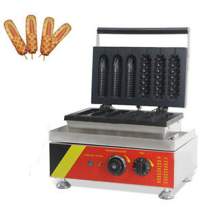 Commercial-Nonstick-Electric-Waffle-Dog-Maker-Corn-Waffle-Maker-Machine-110V-NEW