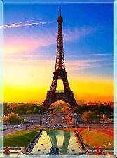 Paris France French Eiffel Tower European Travel Advertisement Poster Art Print