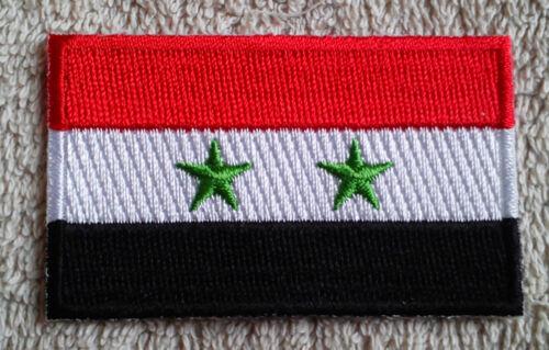 SYRIA FLAG PATCH Embroidered Badge Iron Sew on 3.8cm x 6cm سوريا سورية Sūrīyah