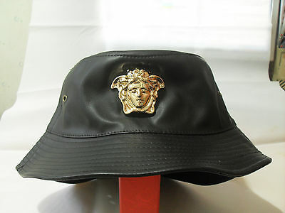 db44b9c653b Medusa gold 3D medallion patent faux leather fashion bucket hat cap one  size M | eBay