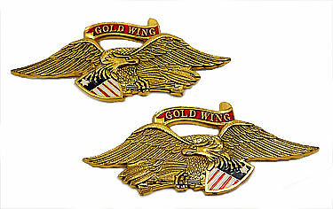 Right / Left emblem set, Louisburg American Colonial with banner