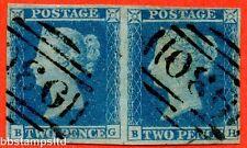 """SG. 14. E1 (2). ES14 N """"BG BH"""". 2D BLU. PIASTRA 4. senza occhiali varietà."""