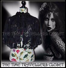 Kate Moss Topshop Rare Black Beaded Lace Vintage Victorian Cape UK 10 12 14 M