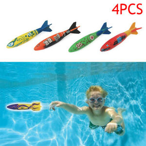 4pcs-Underwater-Torpedo-Rocket-Swimming-Pool-Toy-Swim-Dive-Sticks-Summer-Holiday