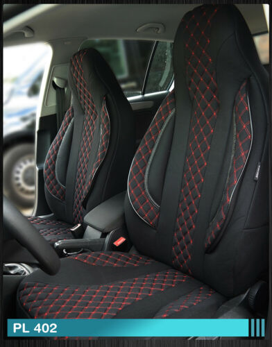 Maß Sitzbezüge Nissan Navara III D40 3 Fahrer /& Beifahrer ab BJ 2005-2015 PL402