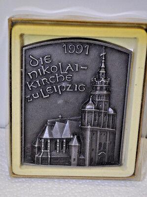 Buderus Wand Platte Relief Wandbild Gußeisen - Nikolaikirche Zu Leipzig - 1991