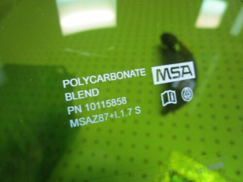 1 10118480 Arc Rate Polycarbonate Visor for MSA V-Gard Frame 10115858 10115827