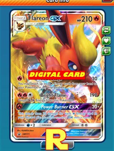 Flareon GX for Pokemon TCG Online Promo SM171 ptcgo in Game Card