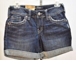 Suki Nuovo Mid Silver Jeans W26 con 629227129426 Short Rise Tag fwOU5Xq
