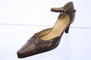Mexx-Riemchen-Pumps-braun-Leder-Vintage-Style-Gr-37-UK-4