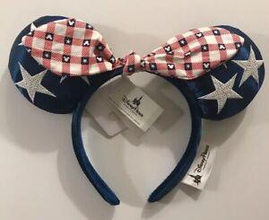 Official Disney Mickey Minnie Mouse Headband Ears All American Girl