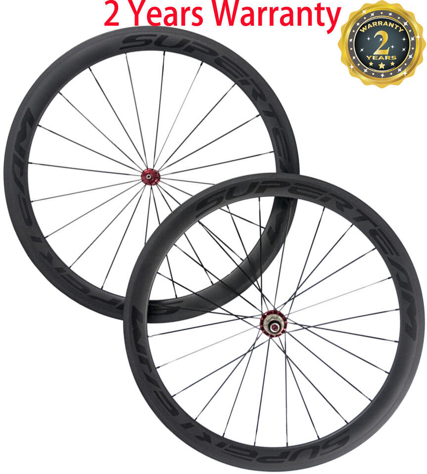 Superteam 700C Clincher  Carbon Wheelset 50mm Road Bike Wheels 23mm Bicycle Wheel  fast delivery and free shipping on all orders